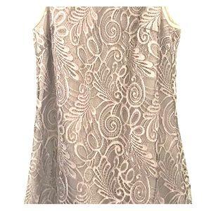Trina Turk leather & lace shift dress.  New!